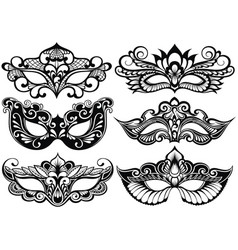 face masks vector image vector image