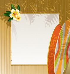 floral surfboards vector image