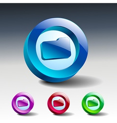 Folder file icon symbol vector image