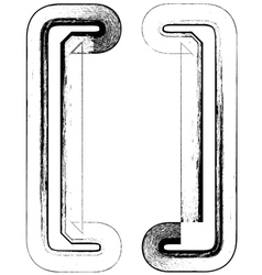 Grunge Font symbol vector image