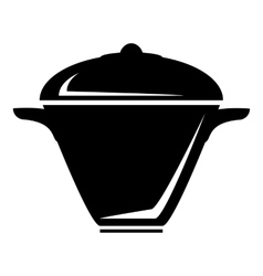 Iron saucepan icon simple style vector image vector image