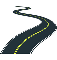 isolated road curves - clip art vector image