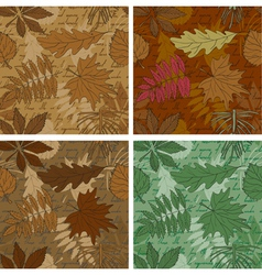Leaves backgrounds vector image vector image