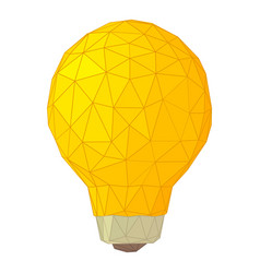 light bulb with triangles icon cartoon style vector image