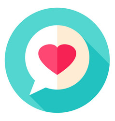Love message circle icon vector