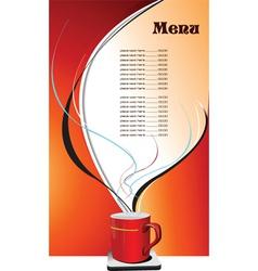 menu background vector image vector image