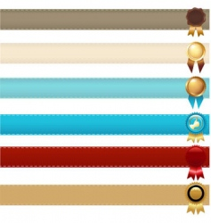 ribbons and awards vector image vector image