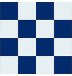 Royal blue white chessboard background vector