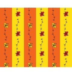 Seamless pattern with cartoon flowers vector image vector image