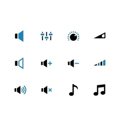 Speaker duotone icons on white background vector image vector image