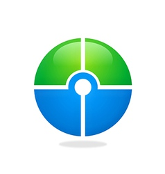 Target round circle green blue logo vector