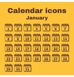 The calendar icon January symbol Flat vector image