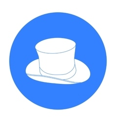 Top hat icon in black style isolated on white vector