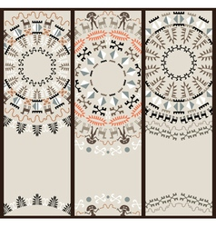 Tribal Pattern at Set of Cards vector image