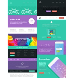 UI is a set of components featuring vector image vector image