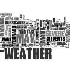 what to do when severe weather strikes text word vector image
