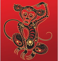 Chinese horoscope year of the monkey vector