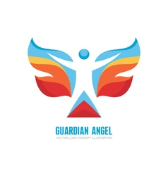 Guardian angel logo template concept vector image