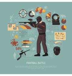 Paintball Battle vector image