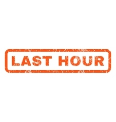 Last hour rubber stamp vector