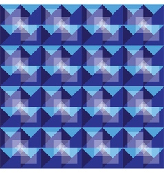 Retro seamless royal blue pattern vector