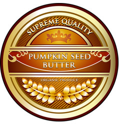 Pumpkin seed butter icon vector
