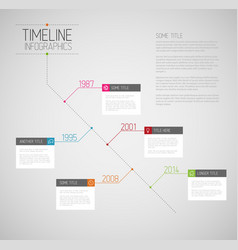 Infographic diagonal timeline report template vector