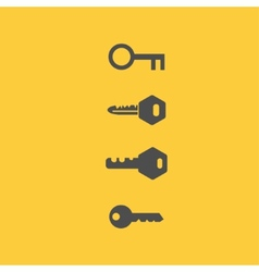 Key icons flat style vector