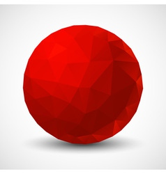 Red geometric ball vector
