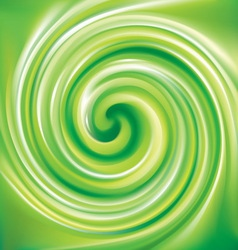 Spiral liquid surface light green color vector