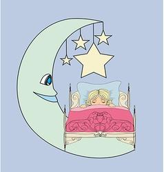 Little girl dreaming vector
