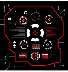 Abstract red virtual graphic touch user vector