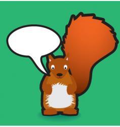 speech squirrel vector image