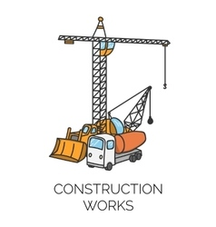 Construction works sign vector