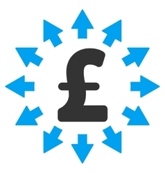 Pound distribution flat icon symbol vector