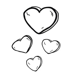 Simple black and white freehand drawn cartoon vector