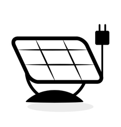 Eco design green concept solar panel icon vector