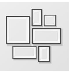 Black Picture Frame Template Set vector image