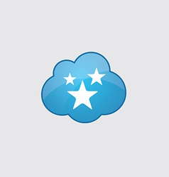 Blue stars icon vector image