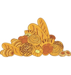 bread and bakeries vector image