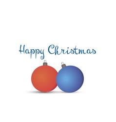 christmas balls xmas card holiday background vector image