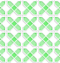 Colored 3d green striped crosses vector