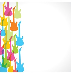colorful guitar design background vector image