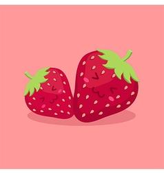 Cute strawberry fruit mascot vector