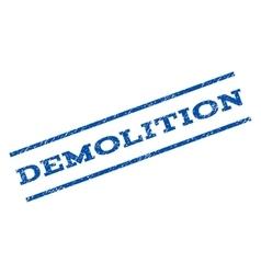 Demolition watermark stamp vector