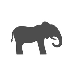 Elephant Silhouette Isolated on White Background vector image vector image