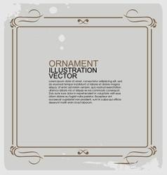 Frame vintage ornament logo vector image