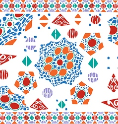 Geometric pattern ethnic colorful abstract vector image vector image