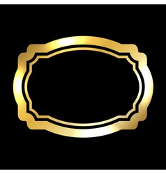 Gold frame beautiful simple golden black style vector
