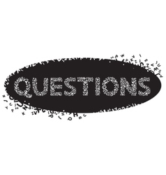 Hand drawn typography poster Questions vector image